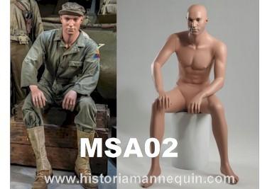 Historia Mannequin Homme Assis MSA02