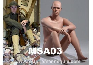 Historia Mannequin Siiting Male MSA03